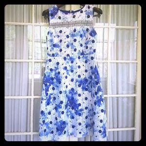 Blue and White Summer T Tahari Dress